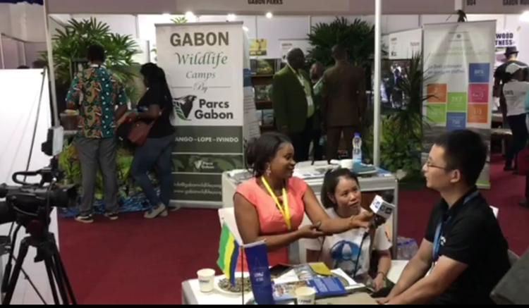 Interviewed by Gabon's Official TV Station