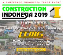 LTMG machinery attend Construction Indonesia 2019